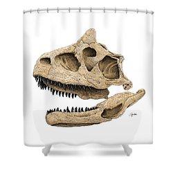 Carnotaurus Skull Shower Curtain