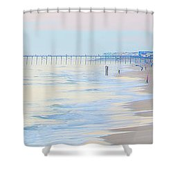 Carolina Beach Thanksgiving Day Shower Curtain