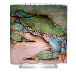 Carolina Blue Crab Shower Curtain