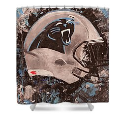 Carolina Panthers Football Helmet Painting Wall Art Shower Curtain