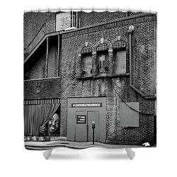 Carolina Theatre In Black And White Shower Curtain