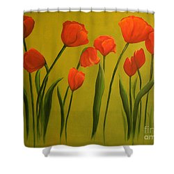 Carolina Tulips Shower Curtain