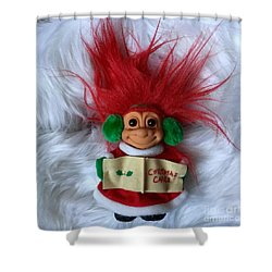 Caroling Troll Christmas 2015 Shower Curtain