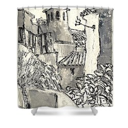 Caromb Village In Provence Shower Curtain