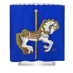 Carousel Horse #3 Shower Curtain