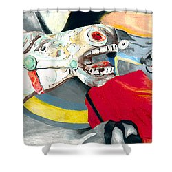 Carousel Horses Shower Curtain by Stephen Anderson