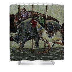 Carousel Kids 1 Shower Curtain by Rich Travis