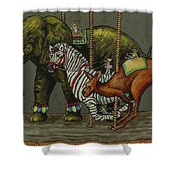 Carousel Kids 2 Shower Curtain by Rich Travis