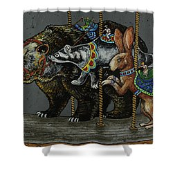 Carousel Kids 4 Shower Curtain by Rich Travis