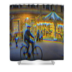 Carousel Lucca Italy Shower Curtain