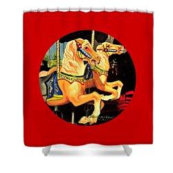 Carousel Palominos Shower Curtain by Ruanna Sion Shadd a'Dann'l Yoder