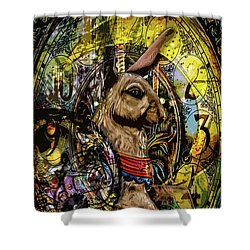 Shower Curtain featuring the photograph Carousel Rabbit by Michael Arend
