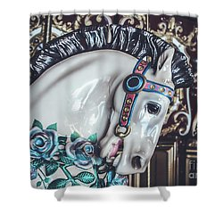 Shower Curtain featuring the photograph Carousel Time by Colleen Kammerer