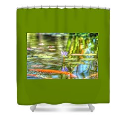 Carp And Lily Shower Curtain
