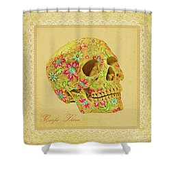 Carpe Diem Shower Curtain by Olga Hamilton