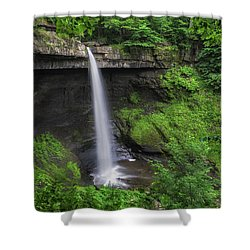Shower Curtain featuring the photograph Carpenter Falls 2 by Mark Papke