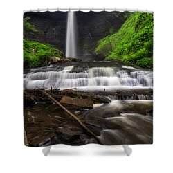 Shower Curtain featuring the photograph Carpenter Falls by Mark Papke