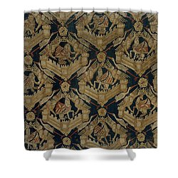 Carpet With The Arms Of Rogier De Beaufort Shower Curtain by R Muirhead Art