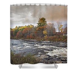 Shower Curtain featuring the photograph Carrabassett River  by Alana Ranney