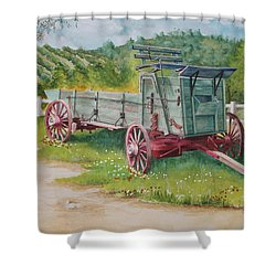 Carriage  Shower Curtain by Charles Hetenyi
