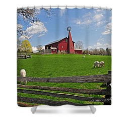 D14d-43 Carriage Hill Farm Metro Park Photo Shower Curtain