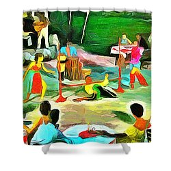 Carribean Scenes - Calypso And Limbo Shower Curtain