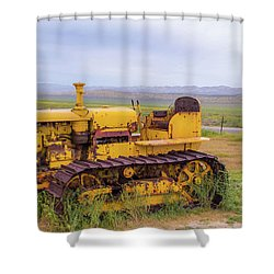 Shower Curtain featuring the photograph Carrizo Plain Bulldozer by Marc Crumpler