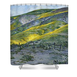 Carrizo Spring Mustard Shower Curtain