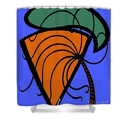 Carrot And Stick Shower Curtain by Patrick J Murphy