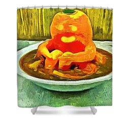 Carrot Bath Time - Da Shower Curtain