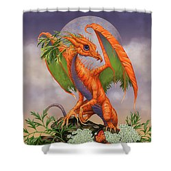 Shower Curtain featuring the digital art Carrot Dragon by Stanley Morrison