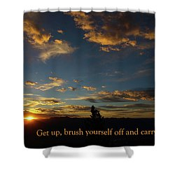 Shower Curtain featuring the photograph Carry On Sunrise by DeeLon Merritt