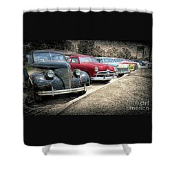 Cars For Sale Shower Curtain by Marion Johnson