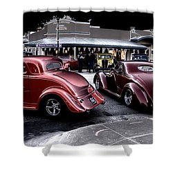 Cars On The Strip Shower Curtain