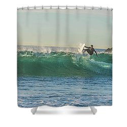 Carsbad Surfer Cutting In Shower Curtain