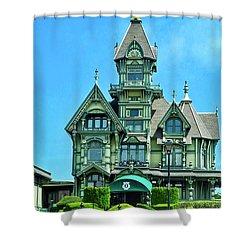 Carson Mansion In Eureka Shower Curtain