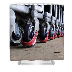 Cart Wheels Shower Curtain by John S