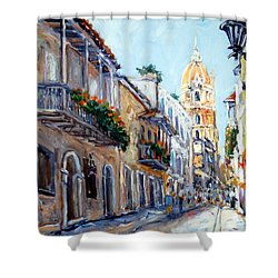Cartagena Colombia Shower Curtain by Alexandra Maria Ethlyn Cheshire
