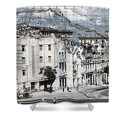 Carte Isle De Cuba Shower Curtain