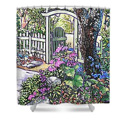 Carter Garden Shower Curtain by Nadi Spencer