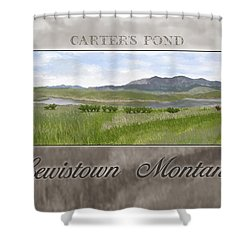 Shower Curtain featuring the digital art Carter's Pond by Susan Kinney