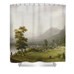 Carter's Tavern At The Head Of Lake George Shower Curtain by Francis Guy