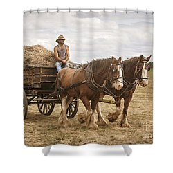 Carting Hay Shower Curtain