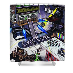 Carton Album Cover Artwork Front Shower Curtain by Richie Montgomery
