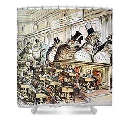 Cartoon: Anti-trust, 1889 Shower Curtain by Granger