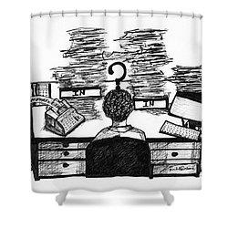 Cartoon I Dare You Shower Curtain
