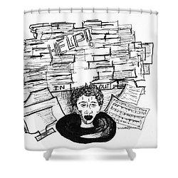Cartoon Inbox Shower Curtain