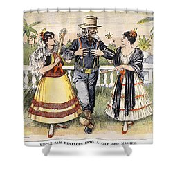 Cartoon: Uncle Sam, 1898 Shower Curtain by Granger