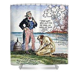 Cartoon: U.s. Intervention Shower Curtain by Granger