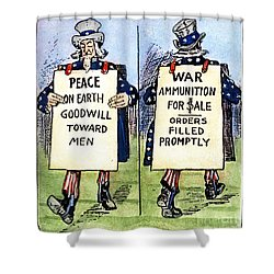 Cartoon: U.s. Neutrality Shower Curtain by Granger